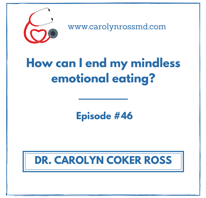 How can I end my mindless emotional eating?